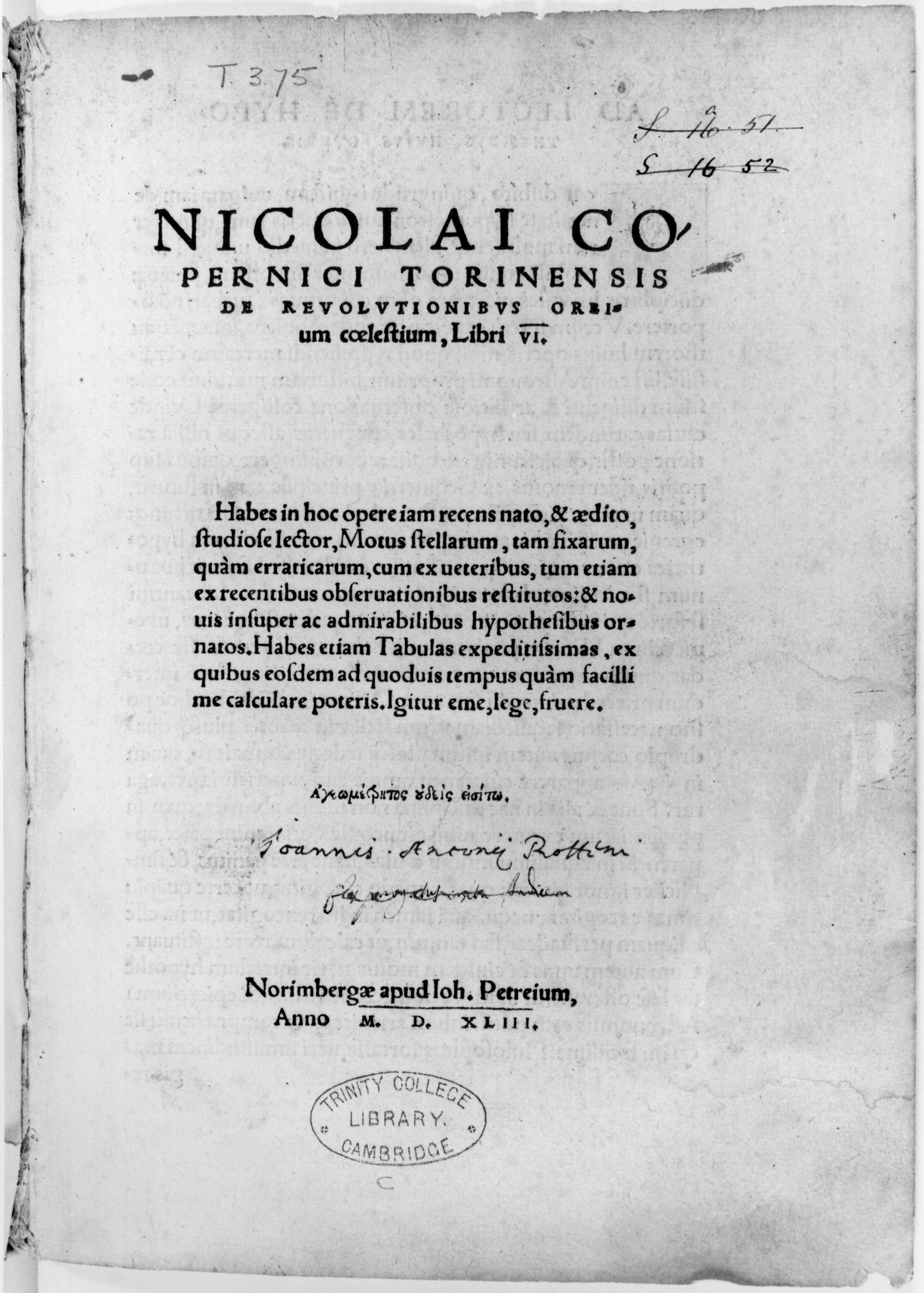 Starry Messenger: Copernicus's Book